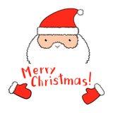 Roliga Santa Claus med jul som märker i vektor Royaltyfri Fotografi