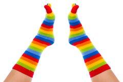 Roliga sockor Fotografering för Bildbyråer