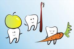 roliga tänder Royaltyfria Bilder
