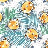 Roliga tecknad filmframsidor Illustration för gemkonst med enkla lutningar Varje framsida på ett separat lager royaltyfri illustrationer