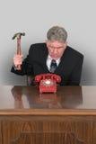 Roliga telefonförsäljningar, affär, marknadsföring Royaltyfri Bild