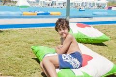 Roliga Tid i Aqua Park i Izmir Arkivfoton