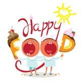 Roliga ungar önskar smaklig mat Arkivbilder
