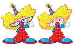 roliga ungar för clowner Arkivfoto