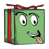 Roliga uttryckstecken för gåva stock illustrationer