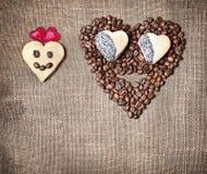 roliga valentiner för frukostdag Royaltyfri Bild