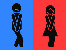 Roliga wc-toalettsymboler Arkivfoton