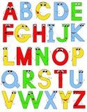 Roligt alfabet Arkivfoto