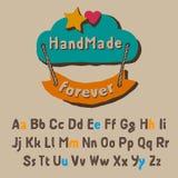 Roligt alfabet Arkivbild