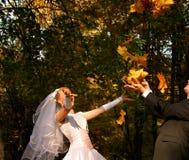 roligt bröllop royaltyfria foton