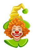 Roligt clownhuvud Arkivfoto