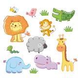 roligt djur Stock Illustrationer