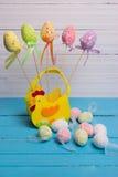 Roligt easter ägg som dekoreras som en hane Royaltyfria Bilder