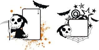Roligt för halloween för dödskördemaskintecknad film utrymme kopia vektor illustrationer