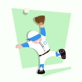 Roligt för lekbaseball för små ungar försök att fånga bollen Royaltyfri Fotografi