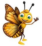 roligt fjärilstecknad filmtecken stock illustrationer