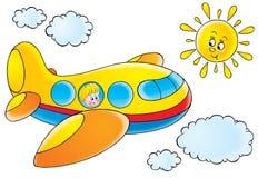 roligt flygplan Arkivfoto