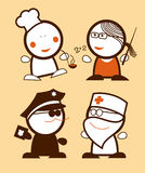 roligt folkyrke stock illustrationer