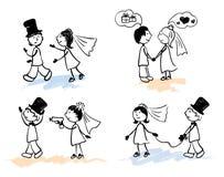 roligt gifta sig för män royaltyfri illustrationer