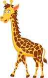 Roligt girafftecknad filmtecken Arkivbilder