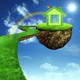Roligt grönt hus. Arkivfoto