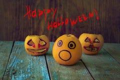 Roligt halloween kort Royaltyfri Foto