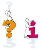 roligt info questions symboler Royaltyfria Bilder