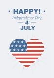 Roligt kort som är lyckligt 4th Juli Arkivfoton