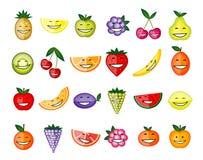 Roligt le för frukttecken Royaltyfri Fotografi
