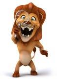 Roligt lejon royaltyfri illustrationer