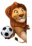 Roligt lejon stock illustrationer