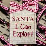 Roligt meddelande för jul Arkivbilder