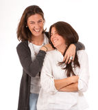 roligt moderförhållande för dotter Royaltyfri Foto