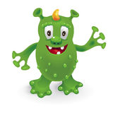 roligt monster för tecknad film Vektor Illustrationer