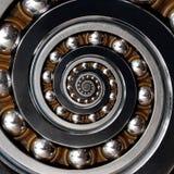 Roligt oerhört industriellt spiralt kullager Spiral jämn björn Arkivbilder
