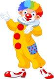 Roligt presentera för clown Arkivbilder