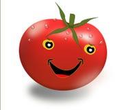 Roligt rött tomattecknad filmdiagram fotografering för bildbyråer