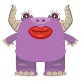 Roligt purpurfärgat monster Arkivbild