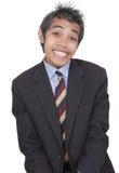 roligt smila för affärsman Arkivfoto