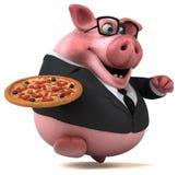 Roligt svin - illustration 3D Stock Illustrationer