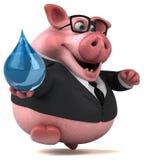 Roligt svin - illustration 3D Royaltyfri Illustrationer