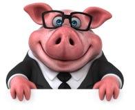 Roligt svin - illustration 3D Vektor Illustrationer