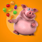 Roligt svin - illustration 3D Royaltyfria Foton