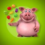 Roligt svin - illustration 3D Fotografering för Bildbyråer