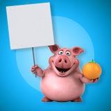 Roligt svin - illustration 3D Royaltyfri Foto