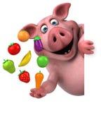 Roligt svin - illustration 3D Arkivfoto