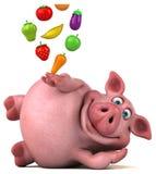 Roligt svin - illustration 3D Arkivfoton