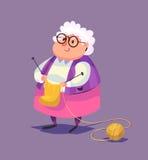 Roligt tecken för gammal kvinna vektor Royaltyfri Fotografi