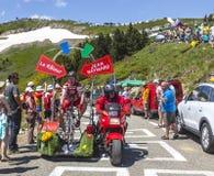 Roligt tecken på cykeln Royaltyfri Fotografi