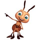 roligt tecknad filmtecken för gullig myra Fotografering för Bildbyråer